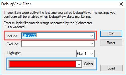 如何使用debugview来调试使用QHYCCD.DLL的程序